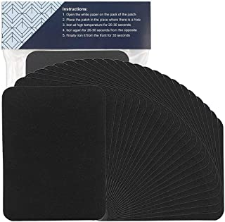 COCOBOO 15pcs Fabric Iron on Patches Large Size 4.9 Inches x 3.7 Inches Black Repair Kit for Clothes Jeans