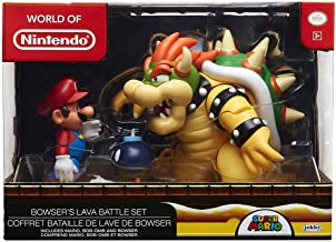 Nintendo Super Mario Bowser Vs Mario Diorama Figure 3 Pack