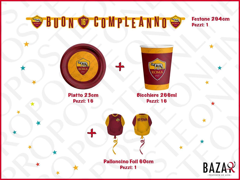 Roma Kit per Festa e Party Articoli 100% Ufficiali Compleanno Festa per Bambini 3680