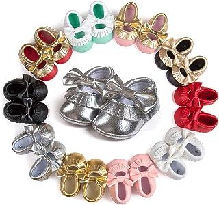 Sakuracan Baby Infant Girls Shoes Soft Sole Wedding Princess Dress Shoes First Walker Shoes