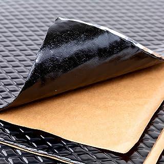 Noico Zwart 2 mm 1,7 m² zelfklevende anti-rammel trillingsdempende mat, auto akoestisch isolatie (lawaaireductie en geluid...