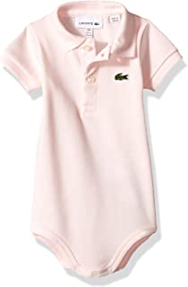 Lacoste Baby Girls Layette Short Sleeve Pique Body Gift Box