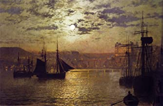 John Atkinson Grimshaw Scarborough by Moonlight 1876 Private Collection 30