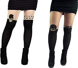 Tokyo Ghoul Death Note Tights Socks (2 Pair) - (Women) Tokyo Ghoul & Death Note Leggings Cosplay Costume Socks