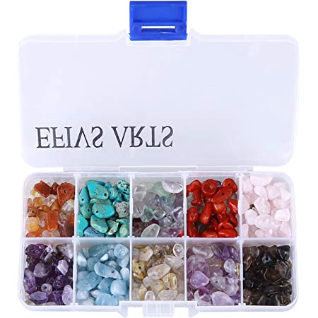 Civilipi Chips Gemstone Beads Irregular Chips Stone Loose Beads for Jewelry Making Crushed Chunked Crystal Pieces