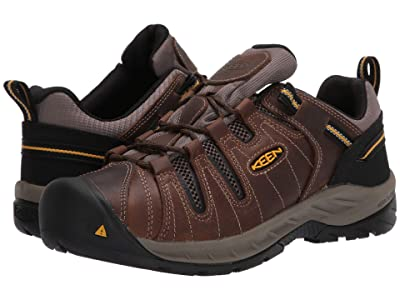 Keen Utility Flint II (Soft Toe) (Cascade Brown/Golden Rod) Men