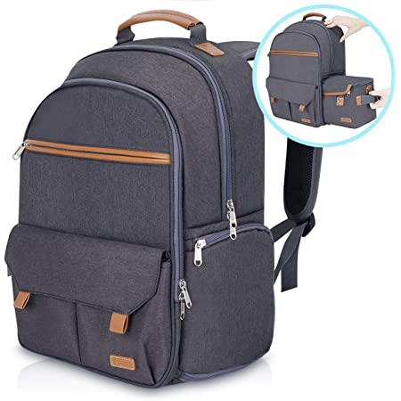 """Endurax Waterproof Camera Backpack for Women and Men Fits 15.6"""" Laptop with Build-in DSLR Shoulder Photographer Bag Gray (Dark Gray)"""