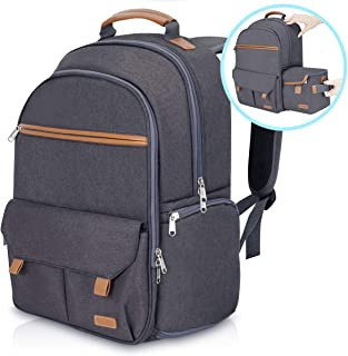 "Endurax Waterproof Camera Backpack for Women and Men Fits 15.6"" Laptop with Build-in DSLR Shoulder Photographer Bag (Dark ..."