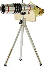 18x Magnifier Zoom Aluminum Universal Manual Focus Telephoto Telescope Phone Camera Lens Kit with Tripod for iPhone 4S 5 5S 5C 6 Samsung Galaxy S4/S5/Note 2/3,etc.