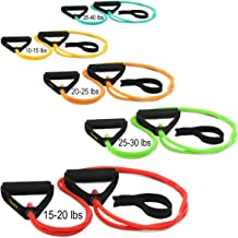 Yes4All Premium X-Safe Resistance Band w/snap-Block Technology (While Other Unsafe Design Will Hurt You) 10, 15, 20, 25, 30, 40, 45, and 60 lbs Single & Set