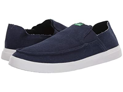 Sanuk Pick Pocket Slip-On Linen (Navy) Men