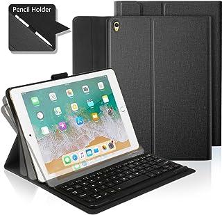 iPad Pro 10.5/iPad air 3 10.5 Funda con Teclado Bluetooth,iPad Funda Protectora con Teclado Inalambrico QWERTY Español para Apple iPad 10.5 (A1701/A1709/A1852)(A2123/A2152/A2153/A2152) Negro
