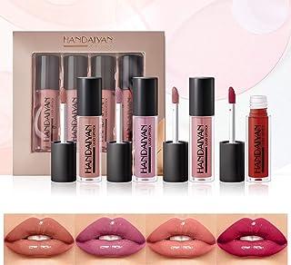 OLesley Brillo de labios hidratante 4 piezas / juego Esmalte de labios 3D impermeable Perdurable Maquillaje profesional pa...