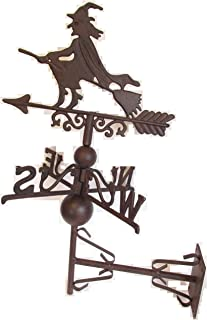 Rusty and Weathered CAST Iron Side Mount Witch WEATHERVANE …