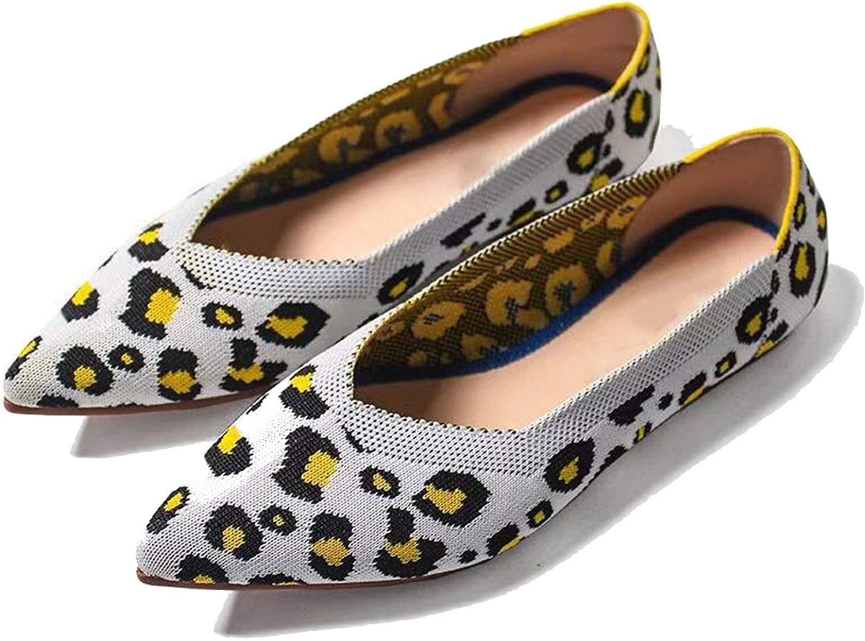 Sonder-Store Women Flats shoes Leopard Women shoes Flat Casual Single shoes Ballerina Women Shallow Female shoes