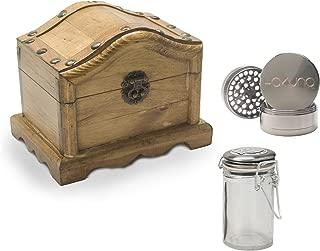 Wavy Treasure Chest Wooden Stash Box - Hakuna Grinder, Hakuna Stash Jar