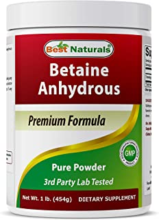 Best Naturals Betaine Anhydrous Trimethylglycine (TMG) Pure Powder 1 Pound