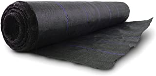 Earth Tack Polyethylene Woven Geotextile Fabric - Ground Cover - Weed Barrier - Water Seepage Resistance - Holding Soil and Sand, 5 ft. x 30ft.