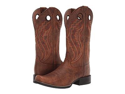 Ariat Sport Picket Line (Sorrel Crunch) Cowboy Boots