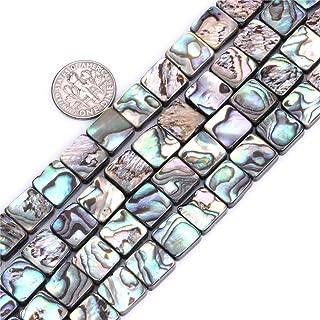 8mm Natural Flat Square Abalone Shell Semi Precious Gemstone Beads for Jewelry Making (48pcs/Strand)