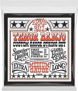 Cuerdas de guitarra banjo tenor de acero inoxidable Ernie Ball Medium Loop End - 10-30 Gauge