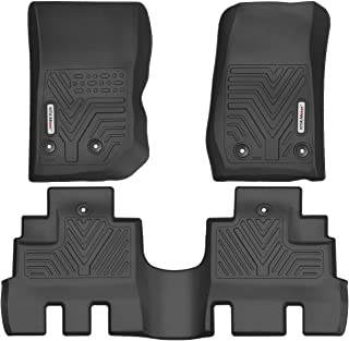 YITAMOTOR Floor Mats for Jeep Wrangler JK Unlimited, Custom Fit Floor Liners for 2014-2018 Jeep Wrangler JKU 4 Door, 1st & 2nd Row All Weather Protection
