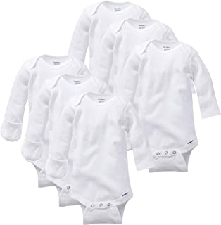 GERBER Baby Girls' 6-Pack Long-Sleeve Mitten-Cuff Onesies Bodysuit