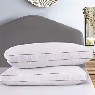 Ubauba Goose Down Feather Pillow Insert for Sleeping 2 Pack, 100% Cotton Down Pillows Hotel Collection Bedding Pillows for...