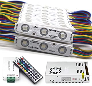 EAGWELL Super Bright 200pcs 3 LED Module RGB 5050 SMD led Waterproof Decorative Storefront LED Light Kits for Letter Sign ...
