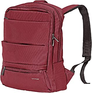 Asus Vivobook M580 Business Backpack, High-Capacity Urban Dual-Pocket Laptop Bag with Anti-Theft Pocket, Organizer Pocket and Water-Resistant Backpack for 15.6 Inch Laptop, Promate Apollo-BP Red