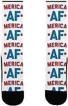 LookHUMAN Merica AF US Size 7-13 Socks