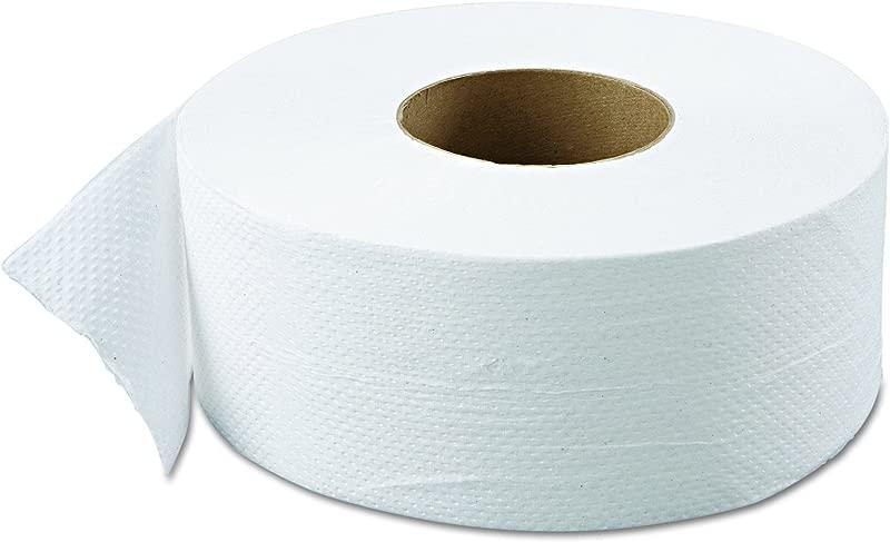 Green Haritage 800 9 Diameter X 3 42 Width 2 Ply Jumbo Roll Bathroom Tissue Case Of 12