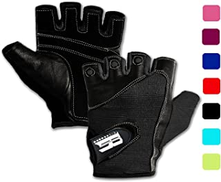 RIMSports Gym Gloves for Powerlifting, Weight Training, Biking, Cycling - Premium Quality Weights Lifting Gloves Workout Gloves w/Washable for Callus and Blister Protection!
