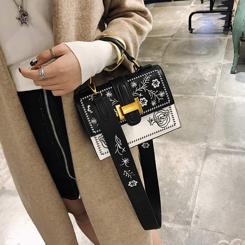 JQSM Women Bag Female Shoulder Messenger Bag for Fine Embroidery Comfortable Adjustable Widened Strap Bolsa Feminina