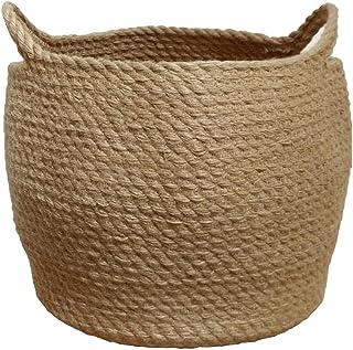 Jute Storage Baskets Dual Handles Storage Bin Basket Gift Baskets Floor Bin Pot Plant Cover Basket Belly Storage Baskets C...