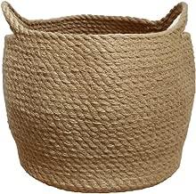 Jute Storage Baskets Dual Handles Storage Bin Basket Gift Baskets Floor Bin Pot Plant Cover Basket Belly Storage Baskets Carrying Tote Rope Basket, Storage Basket, Planter Basket
