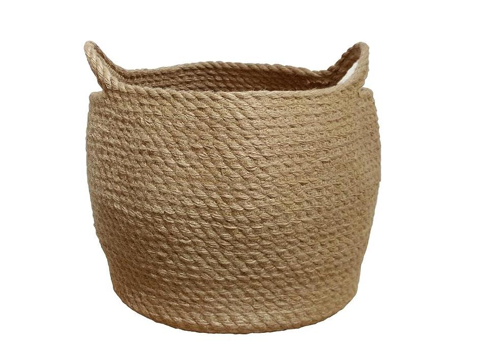 Jute Storage Baskets Dual Handles Storage Bin Basket Gift Baskets Floor Bin Pot Plant Cover Basket Belly Storage Baskets Carrying Tote Rope Basket, Storage Basket, Planter Basket didzulhpukhbrm