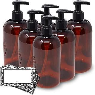 amber plastic soap dispenser