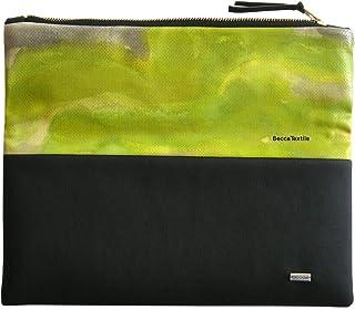 Borsa originale, portfolio, cartella nero, verde e rosa, Borsa esclusiva, regalo speciale, borsa di design moderno realizz...