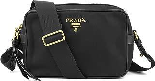 Prada Women's Black Tessuto Nylon Crossbody 1BH089