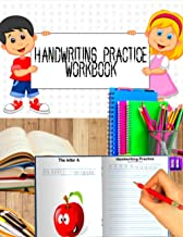 Handwriting practice workbook: Practice Workbook To Learn The Alphabet And Numbers From 0 To 10 , Line Tracing