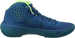 Under Armour Men's HOVR Havoc 2 Basketball Shoes, Green (Teal Vibe/Teal Rush/Black (404) 404), 4 UK