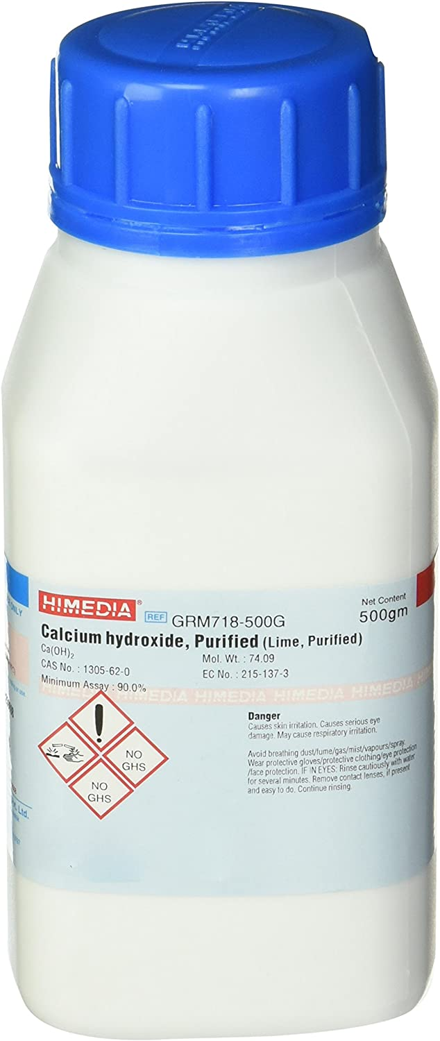 HiMedia GRM718-500G online shopping Calcium Hydroxide Max 49% OFF g Purified 500