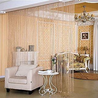 String Curtain Panel, Glitter Door Wall Window Doorways Panel Fly Screen Fringe Room Divider Blinds, Decorative Tassel Rib...