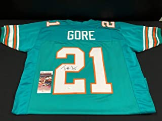 Frank Gore Miami Dolphins Autographed Signed Custom Throwback Jersey (Size XL) JSA COA Wpp188536 Hof
