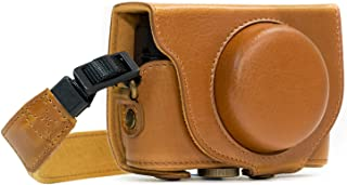 MegaGear Ever Ready Leather Camera Case Compatible with Sony Cyber-Shot DSC-RX100 VI, DSC-RX100 V, DSC-RX100 IV, DSC-RX100...