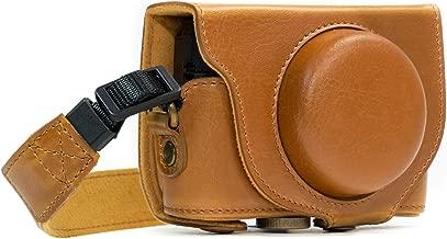 MegaGear Ever Ready Leather Camera Case Compatible with Sony Cyber-Shot DSC-HX95, DSC-HX99, DSC-HX80, DSC-HX90V