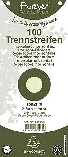 gelocht, trapezf/örmig, aus Recycling Karton, 190 g Forever, 105 x 142 mm Exacompta 13545E Trennstreifen 100 St/ück gr/ün
