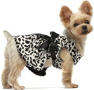 Fitwarm Leopard Print Pet Clothes for Dog Dresses Cat Apparel Costume Brown