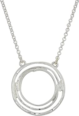 Small Swirl Pendant Necklace 16""